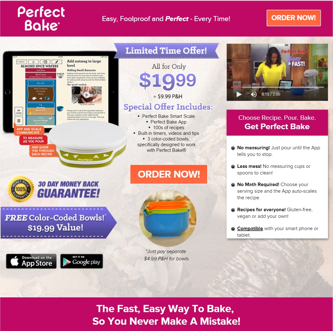 The scimark report weekly round up for Perfect bake smart scale